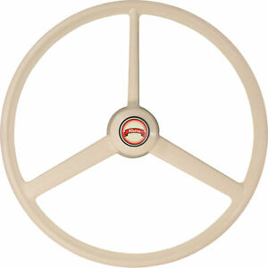 Sci Retro Steering Wheel 3 Spoke 20in Diameter Bone