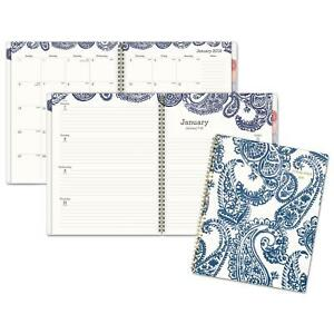 Ataglance Paige Weekly monthly Planner 8 5x11 Navy white 2019