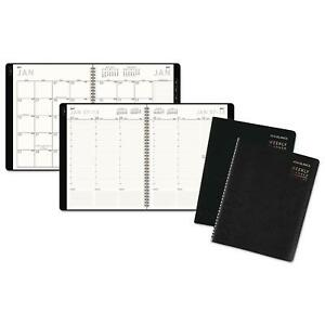 At A Glance Contemporary Weekly monthly Planner Column 8 25x10 Black Cover 2019