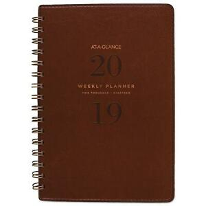 At A Glance Signature Collection Brown Weekly Monthly Planner 5 3 4x8 5 2019