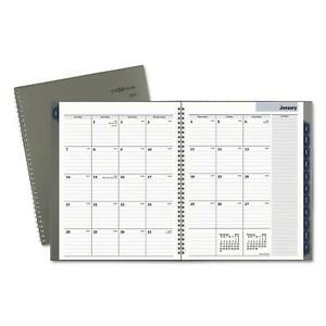 At A Glance Dayminder Traditional Monthly Planner 8 5 x11 Gray 2018