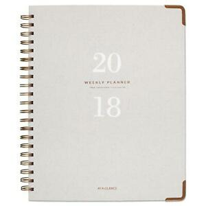 At A Glance Light Gray Wirebound Weekly monthly Planners 8 3 8x11 Gray 2019