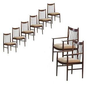 Danish Dining Chairs Rosewood Mid Century Modern Set Of Eight Arne Vodder For