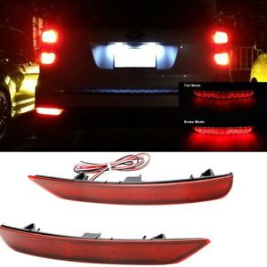 2x Led Rear Red Bumper Reflector Tail Brake Light For Subaru Forester 2007 2011