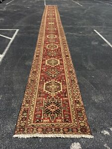 On Sale S Antique Knotted Persian Geometric Rug Runner Carpet 2 9 X30 8 25511