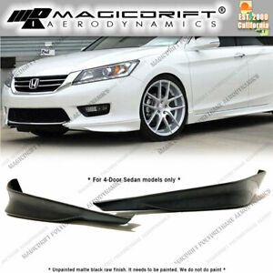 For 13 14 15 Honda Accord 4dr Sedan Hfp Oe Sport Front Bumper Corner Lip Kit