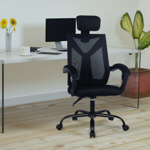 Executive Swivel High Back Ergonomic Black Mesh Chair Reclining Office Chair