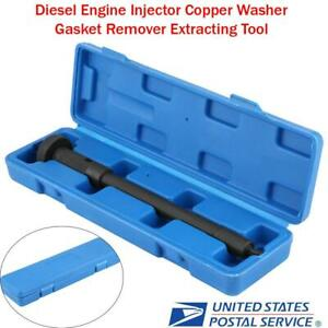 New Diesel Engine Injector Copper Washer Gasket Remover Extracting Tool Black Us