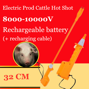 Rechargeable Livestock Cattle Pig Prod Handle Electric Stock Shock 32cm Safe