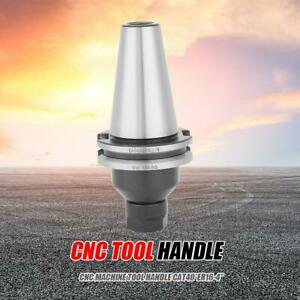 Cat40 Er16 Precision Tool Holder Cnc Machining Collet Chuck Pull Stud Shank