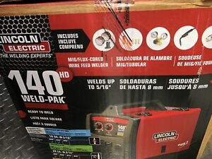 Brand New Lincoln Electric 140hd Weld Pak Mig Wire Feed Welder k2514 1 Openbox