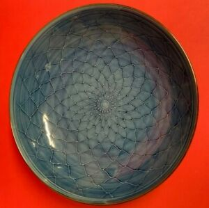 Blue Chinese Bowl With Fish Scales Design