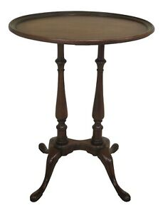 47387ec Brandt Oval Mahogany Occasional Accent Table
