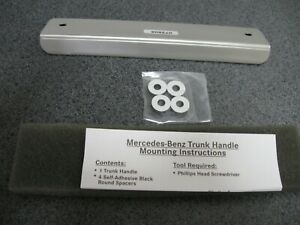 New Oem Mercedes benz Satin Stainless Steel Trunk Handle p n Bq6750036