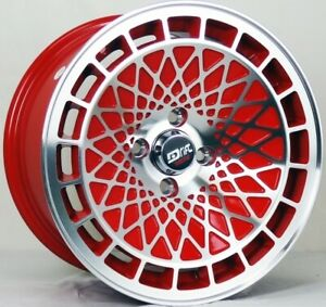 4 Four 15 L441 Drift Racing 15x8 25 Cb 73 10 4 Lug Honda Wheel Rims Red