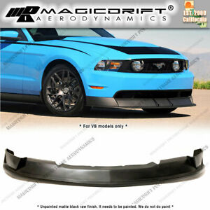 For 10 12 Ford Mustang V8 Rt500 Style Front Bumper Chin Lip Spoiler Boss R500