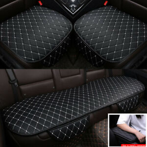 Universal Black white Pu Leather Car Front rear Seat Cover Cushion armrest Pad