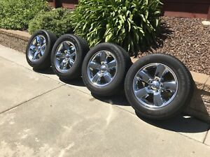 Dodge Ram 1500 20 Oem Factory Chrome Clad Wheels Goodyear Tires Set Of 4