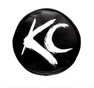 Kc Hilites 5117 Light Covers Round 6 Diameter Vinyl Black White Kc Logo Pair