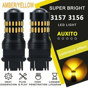 Auxito Amber 48smd Turn Signal Light 3157 Led Bulb Fit For Ford F150 F250 F350 A