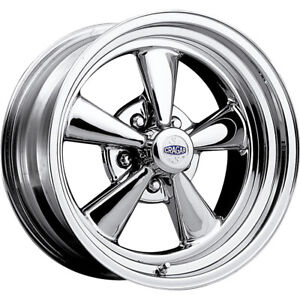 2 New 15x6 Cragar 61c S S Chrome Wheels Rims 06 5x4 50