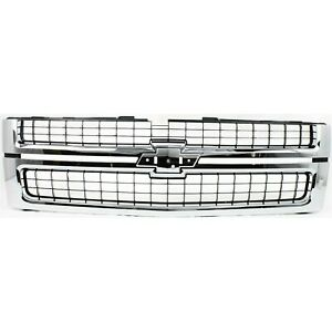 New Grille Black Front For Chevrolet Silverado 2500 Hd 2007 2010 Gm1200608