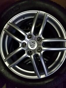 19 Porsche Cayenne Oem Forged Wheels All Season Michelins Tires Tpms