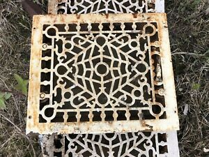 Antique Vintage Art Deco Cast Iron Floor Wall Return Register Grate Vent 12x10