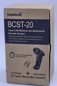 Inateck Bcst 20 Laser 2 4g Wireless fast Delivery Barcode Scan