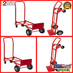 Milwaukee 600 Lb Capacity 2 in 1 Convertible Hand Truck Trolley Moving New
