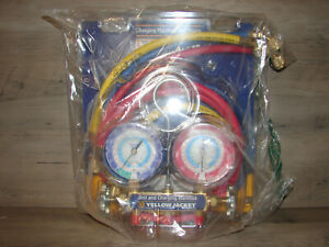 Yellow Jacket 42006 2 valve Mechanical Manifold Gauge Set brand New Read
