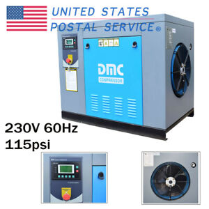 10hp Air Compressor Rotary Screw 139cfm 115psi Single Phase Power Saving 30 Us