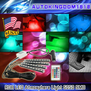 4pcs 16 Color Car Truck Underglow Under Body Neon Accent Glow Led Lights Kit Usa