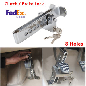8 Hole Stainless Steel Clutch Car Brake Lock Anti Theft Device Keys Usa Stock