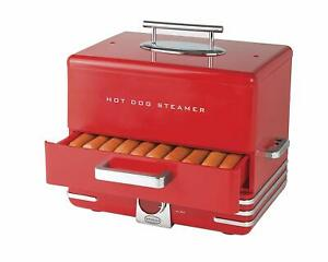 Hot Dog Steamer Cooker Food Dinner Machine Warmer Picinic Cooking Red 24 buns