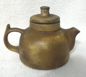 Vintage Japanese Small Pottery Teapot Artist Signed