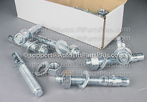 Auto Lift Wedge Anchors Anchor Bolts 3 4 X 5 1 2 For 2 Post Lifts Box 20