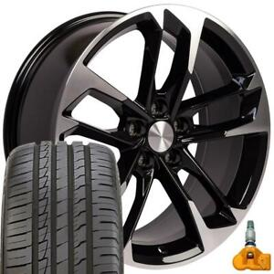 Cp 20 Wheel Tire Tpms Fit Chevy Camaro 50th Style Black Rims Ironman