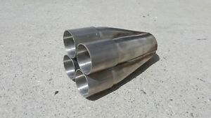 1 88 Inlet 4 1 Exhaust Header Merge Collector Component 304 Stainless 1 7 8