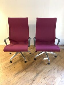 Herman Miller Setu Posture Fit Office Lounge Chair Magenta Set Of 2
