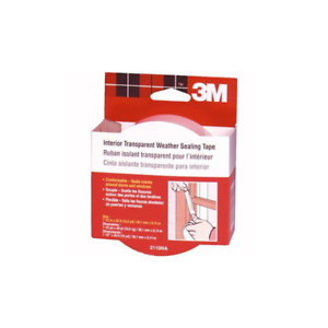 3m Indoor Transparent Weather Sealing Tape 1 5 In X 30 Ft 2110na
