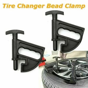 2 1x Car Tire Changer Bead Clamp Drop Center Tools Universal Rim Clamp Hunter Us