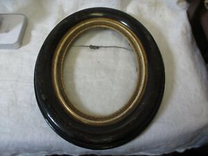 Antique Gesso On Wood Oval Picture Frame Neat Design