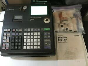 Lightly Used Casio Pcr t500 Electronic Cash Register Black