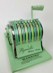 Paymaster Ribbon Writer Series Mint Green 8000 Checkwriter Original Price 374