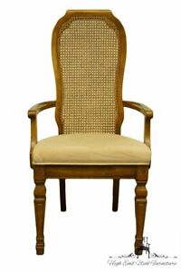 Bernhardt Furniture Italian Provincial Cane Back Dining Arm Chair 251 521 522