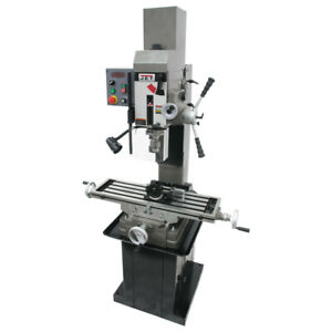 Jet 351156 Square Column Mill Drill With Power Downfeed Newall 2 axis Dro New