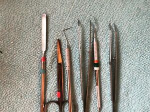 6 Used Dental Hand Instruments
