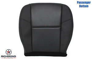 2011 2012 Chevy Avalanche Ltz passenger Bottom Leather Seat Cover Ac Cool Black
