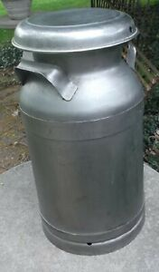 Buhl Ohio Stainless Steel 10 20 Qt L6 Milk Can W Lid Vg